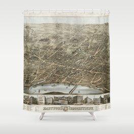 Hartford Panorama 1877 Shower Curtain