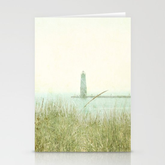 Two Boats and a Lighthouse Stationery Cards
