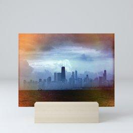 Foggy Skyline #22 Mini Art Print