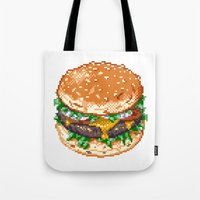 burger Tote Bags featuring Burger by noirlac