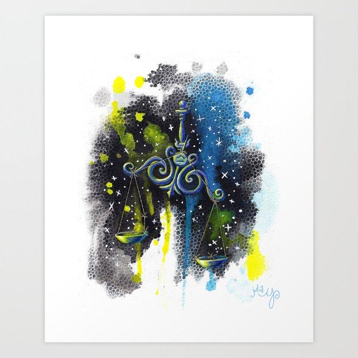 Libra the Scales- Zodiac Art Print