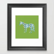 Greenery Unicorn Framed Art Print