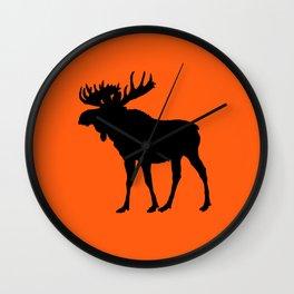Moose: Orange Wall Clock