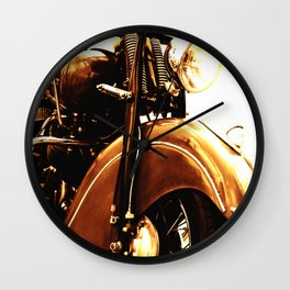 Motorcycle-Sepia Wall Clock