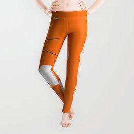 Poppies on orange peel Leggings