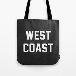 West Coast - black version Tote Bag