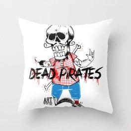 Dead PiraTes Throw Pillow