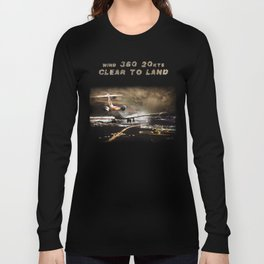 Wind 360 20 kts clear to land Long Sleeve T-shirt