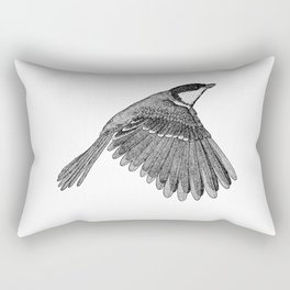 A Great tit named Titus Rectangular Pillow