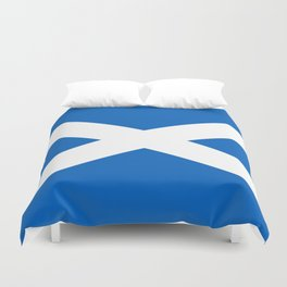 National flag of Scotland - Authentic version to scale and color Duvet Cover