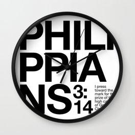 Philippians 3:14 Wall Clock