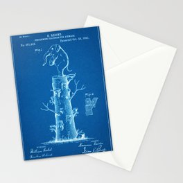 "1891 Patent for an ""Animal Preforming Platform"" - Blueprint Style Stationery Cards"