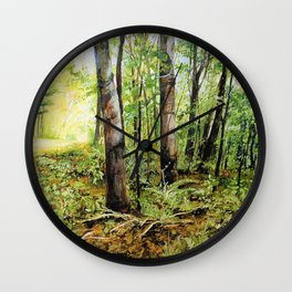 Forest Woods Vermont Landscape Wall Clock