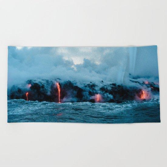 Vulcano ocean Beach Towel