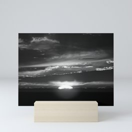 Black and White Delight Mini Art Print