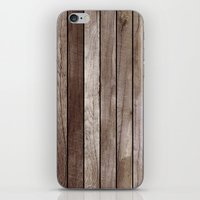 wooden iPhone & iPod Skins featuring Wooden Texture by Patterns and Textures