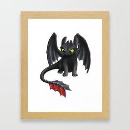 Toothless Dragon Framed Art Print