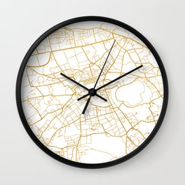 EDINBURGH SCOTLAND CITY STREET MAP ART Wall Clock
