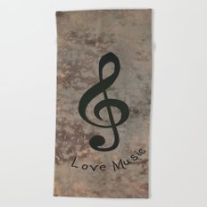 Music-122 Beach Towel