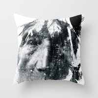be brave Throw Pillows featuring Brave  by C A R E Y  M O R T O N