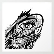 WINGED EYE Art Print
