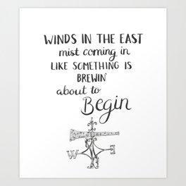 Winds in the East Kunstdrucke