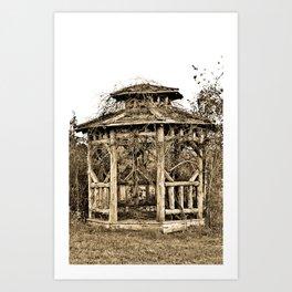 Gazebo Art Print