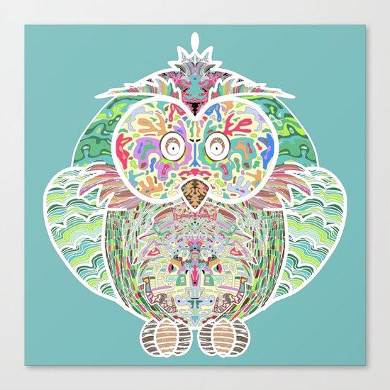 RAINBOW OWL Canvas Print