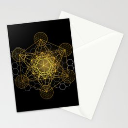 Sacred Geometry Metatrons Cube  Stationery Cards