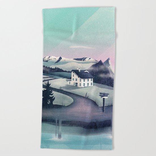 Alpine Island Beach Towel