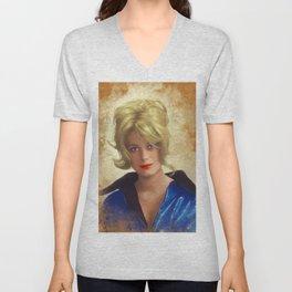Catharine Deneuve, Vintage Actress Unisex V-Neck