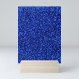 Vintage Floral Sapphire Blue Mini Art Print