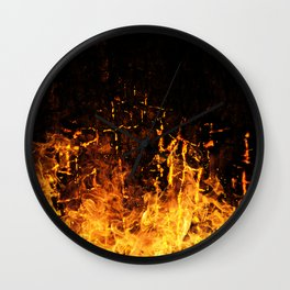 Hot Stuff / Let it burn Wall Clock