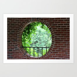 A Window with a View Art Print