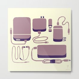 Digital Emergency Kit (Lavender) Metal Print