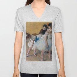 "Edgar Degas ""Examen de Danse (Dance Examination)"" Unisex V-Neck"