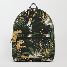 Animals in the glamorous nocturnal jungle Backpack