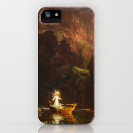 Thomas Cole - The Voyage of Life Childhood, 1842 iPhone Case