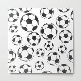 Soccer Balls Metal Print