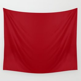 Solid Dark Cranberry Red Color Wall Tapestry