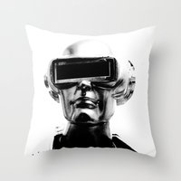 spaceman Throw Pillows featuring Spaceman by Goga