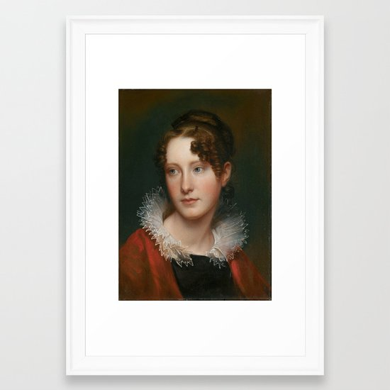 Rembrandt Peale Portrait Of Rosalba Peale Framed Art Print By