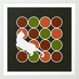 Playful Cat  Art Print