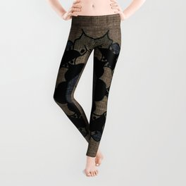 Lotus Mandala on Fabric Leggings