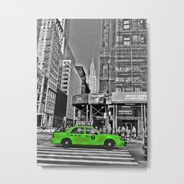 Color Cab (Green) Metal Print