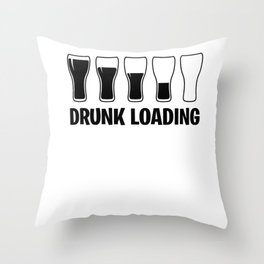 Drunk beer alcohol Druncle fun gift Throw Pillow