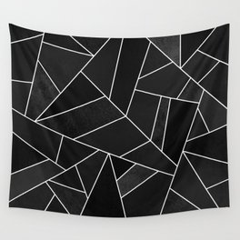 Black Stone Wall Tapestry