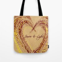 rustic Tote Bags featuring rustic by L Step