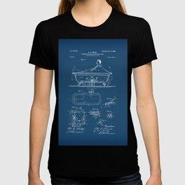 Rocking Oscillating Bathtub Patent Engineering Blueprint T-shirt