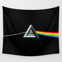 illuminati Wall Tapestries featuring Penrose Side Of The Illuminati by Cajne